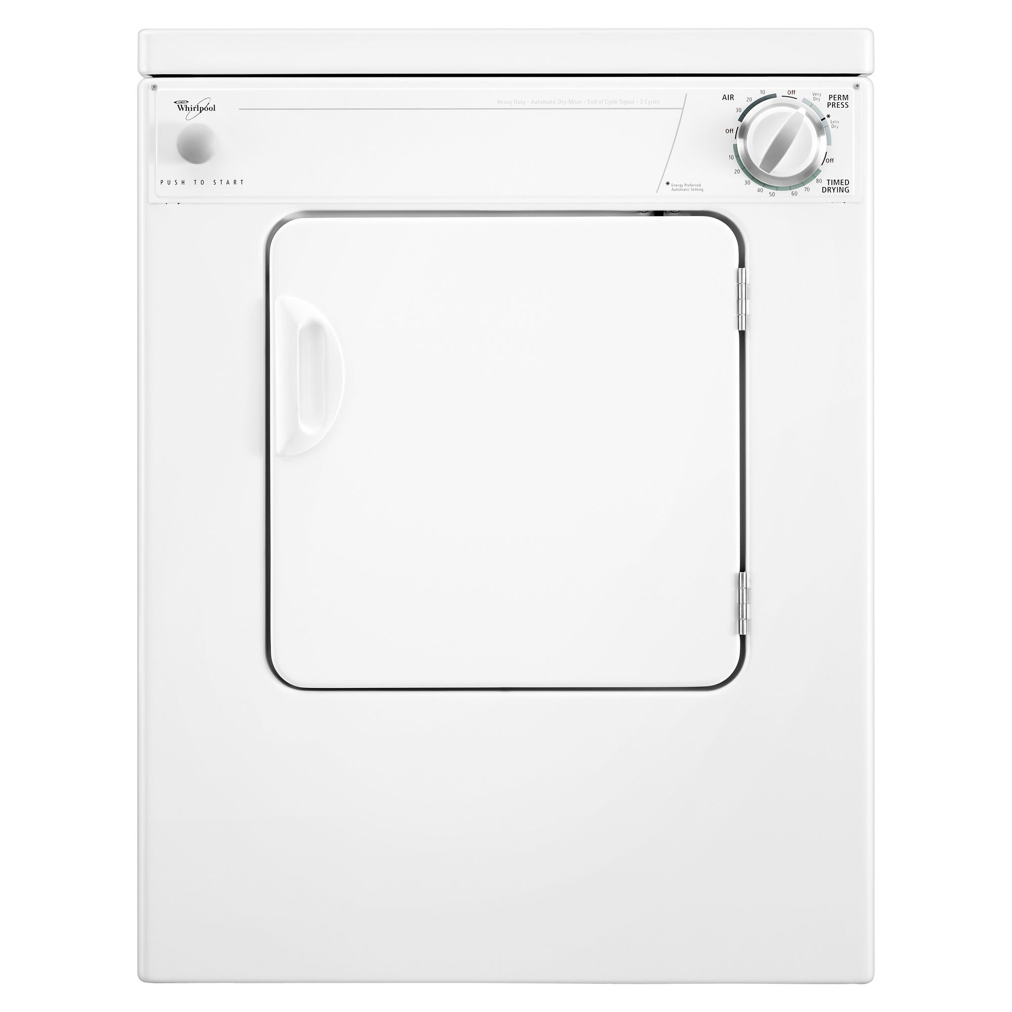 3.4 cu. ft. Electric Dryer - White