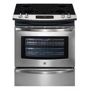 "Kenmore 30"" Self Clean Slide-In Electric Range w/ Ceramic Smoothtop Cooktop - Stainless Steel at Kmart.com"