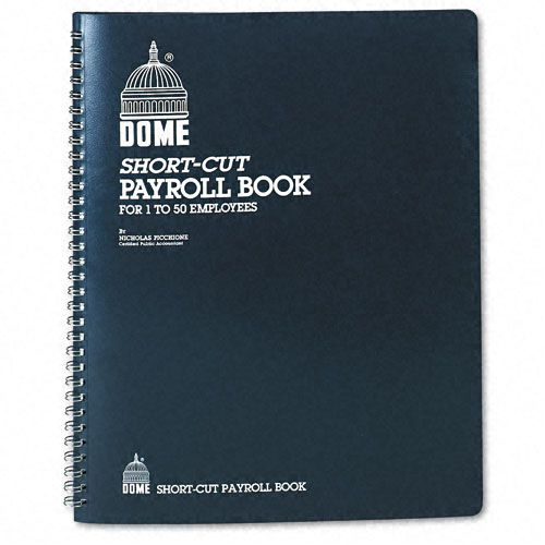 Dome Single Entry System Payroll Record, 8-3/4 x 11-1/4