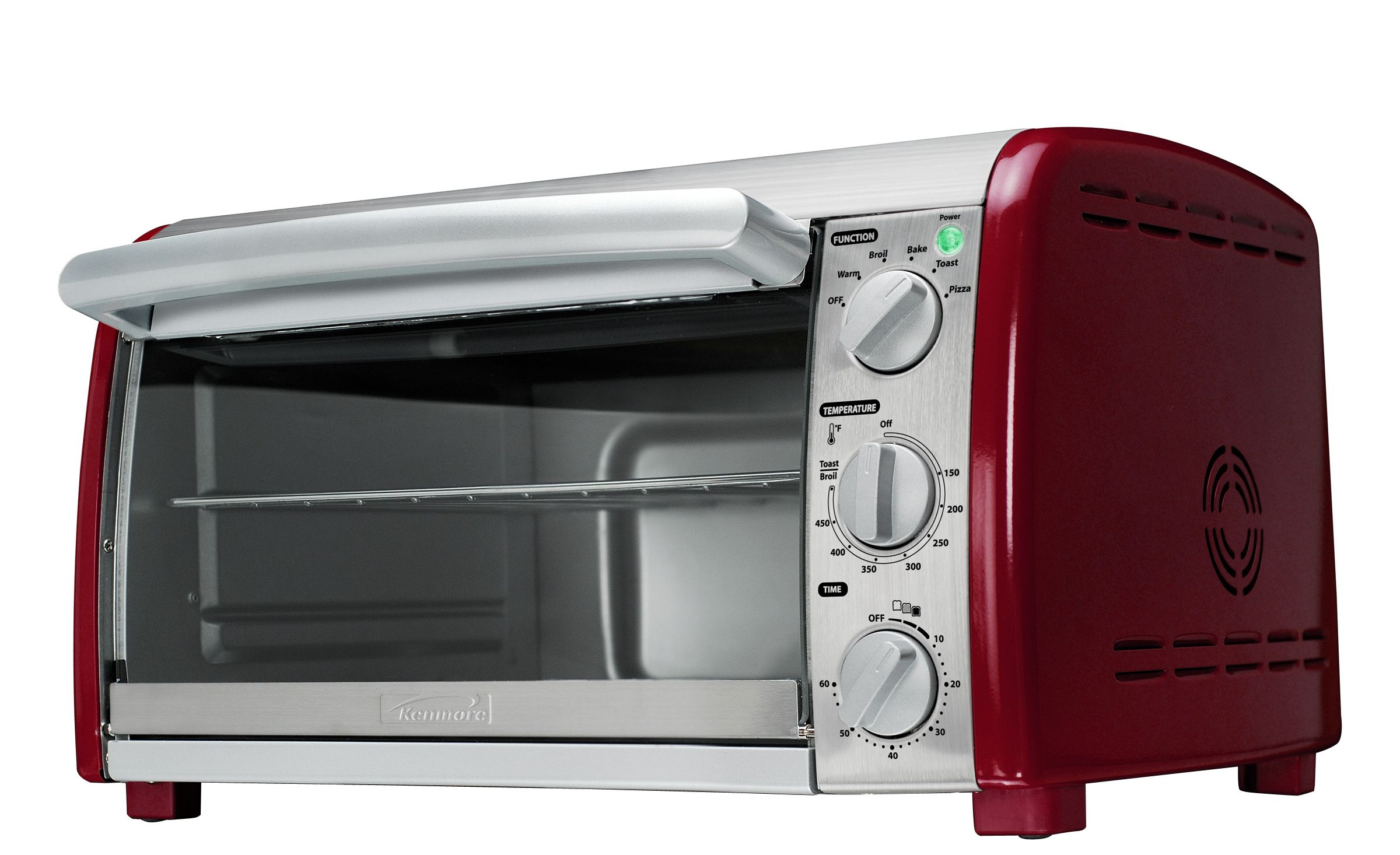 Kenmore 6-Slice Convection Toaster Oven -Red/Stainless Steel