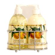 Image Essentials Citrus Liquid Soap & Lotion Wire Rack Set Classic Lemon 16 Ounce Bottles at Kmart.com
