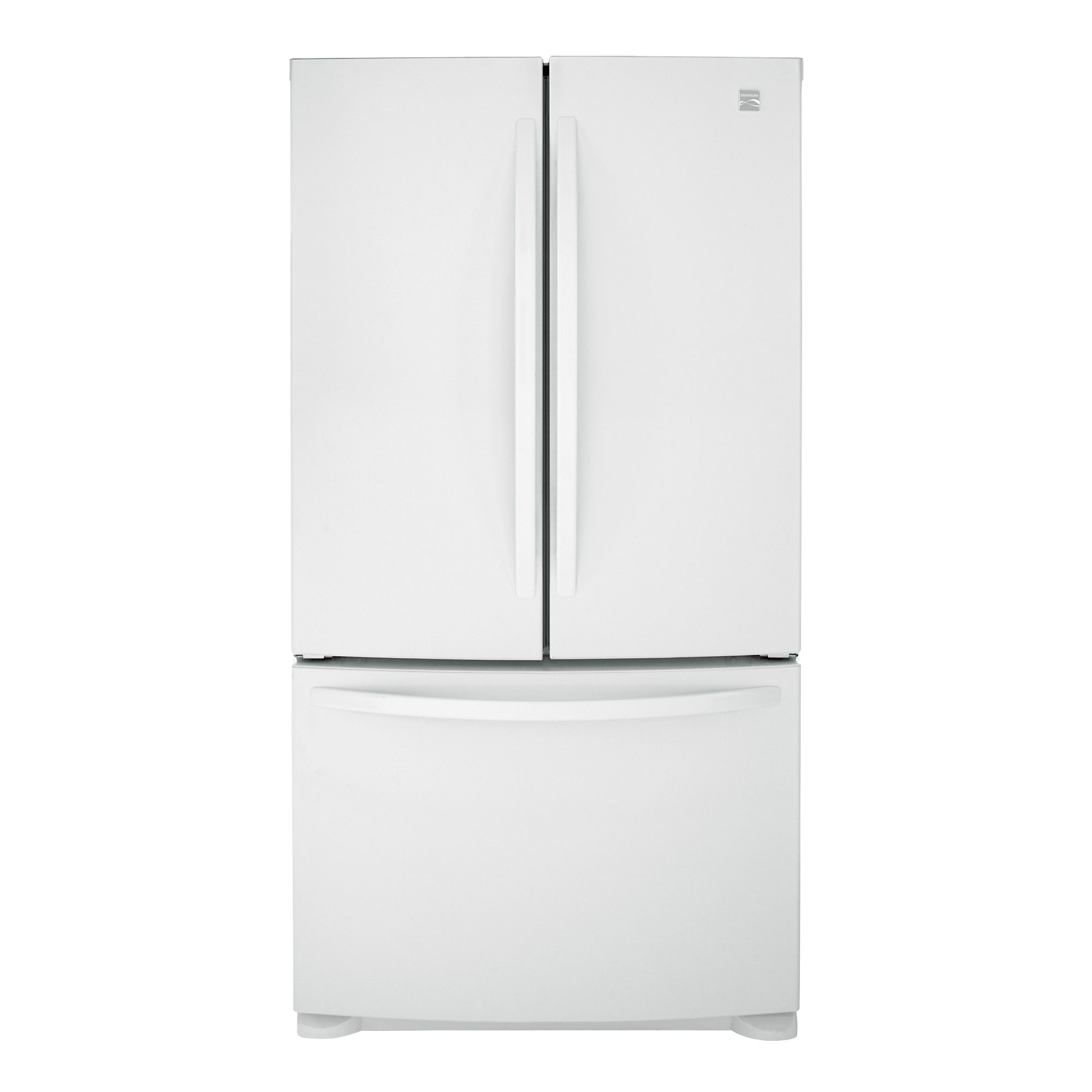 25.0 cu. ft. French Door Bottom-Freezer Refrigerator - White                                                                     at mygofer.com