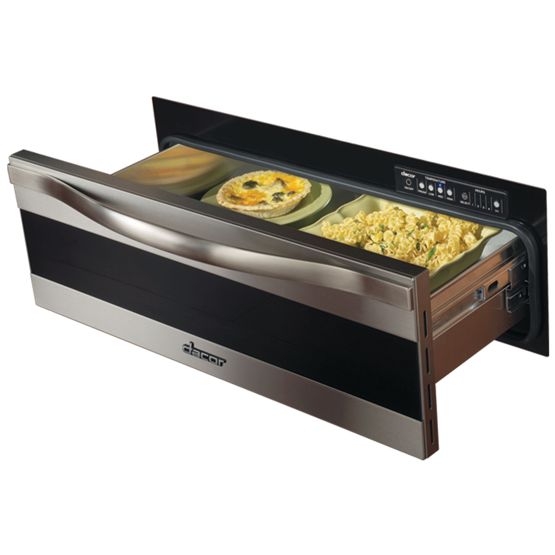 Dacor  Renaissance 30 in. Millennia Warming Drawer in Black Glass with