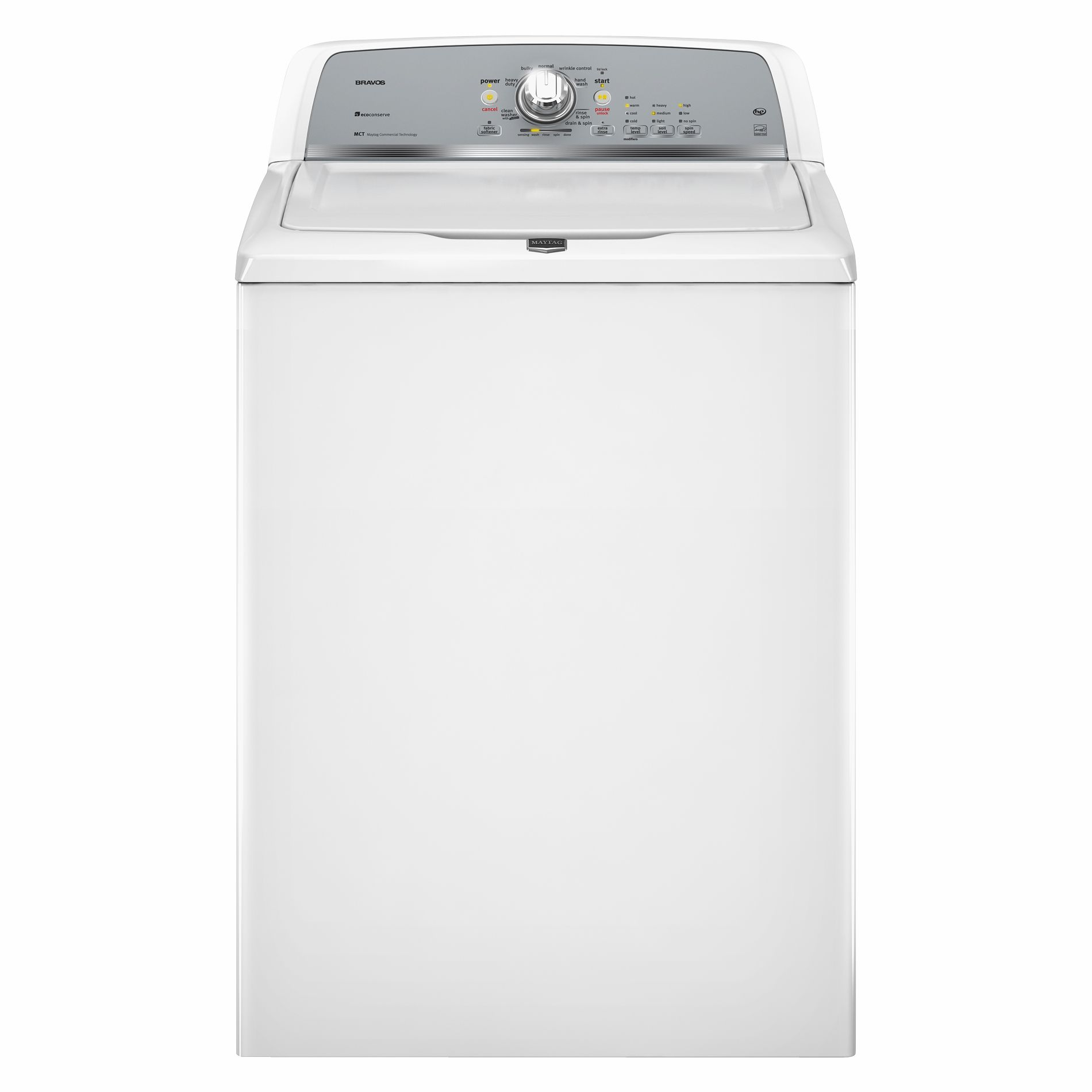 Maytag Bravos X 3.6 cu. ft. High-Efficiency Top-Load  Washer w/ Low-Water Wash - White