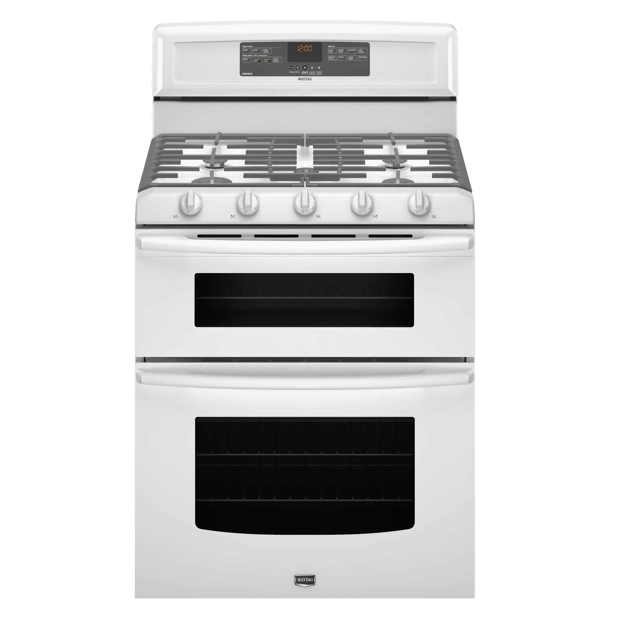 Maytag Mgt8775xw 6 Cu  Ft  Double Oven Gas Range W