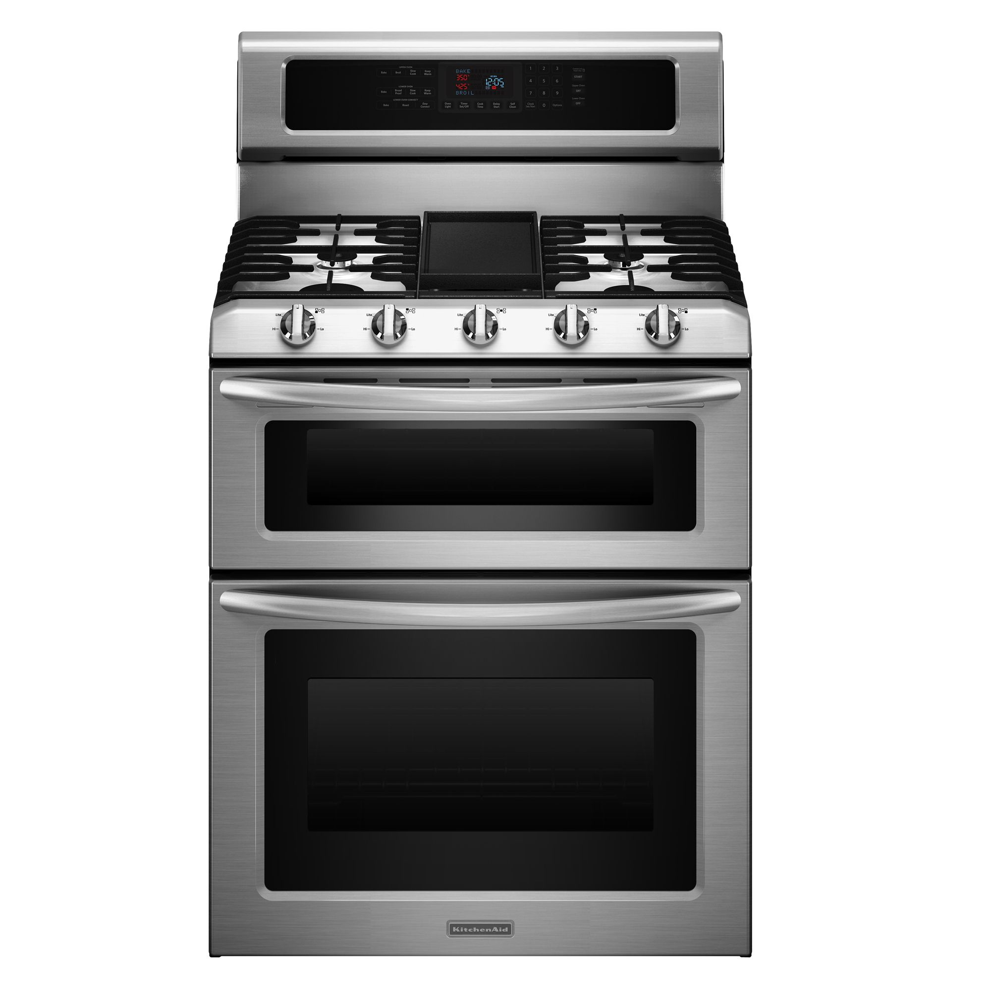 "KitchenAid 30"" Double Oven Freestanding Gas Range"
