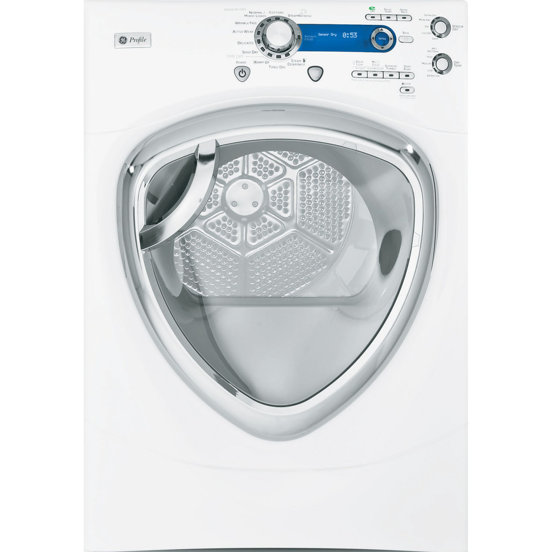 7.5 cu. ft. Steam Electric Dryer- White