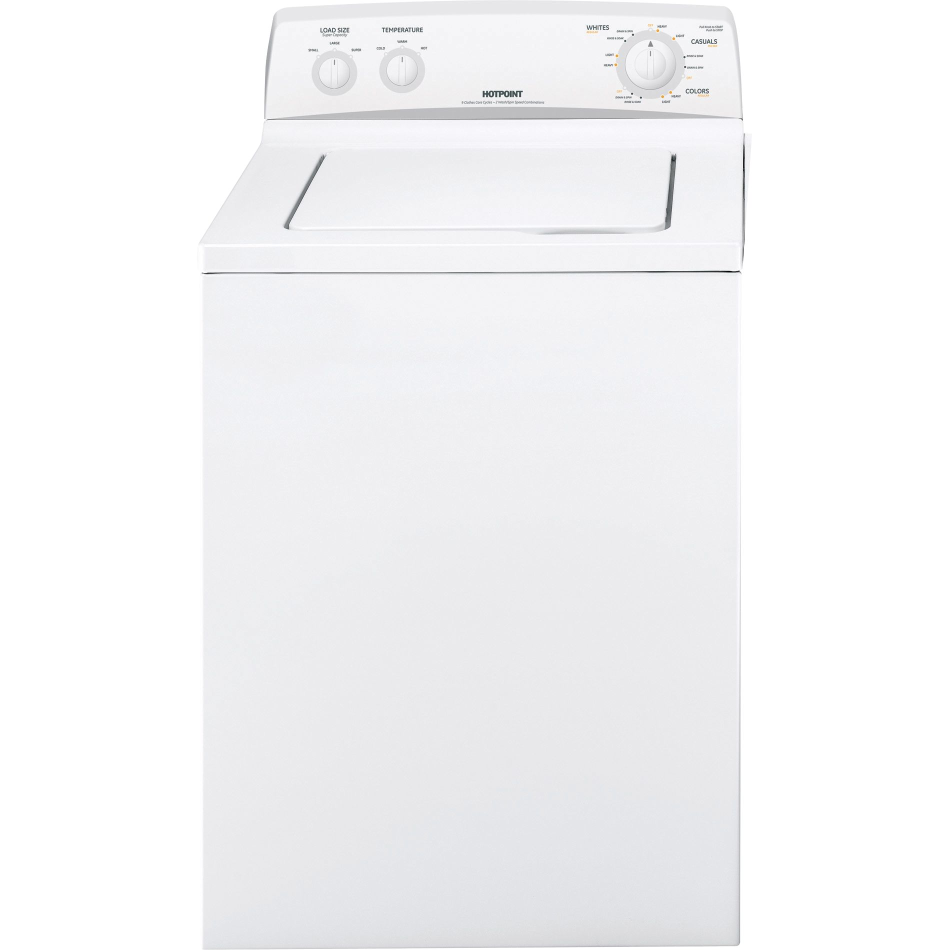 Hotpoint Top Loading Washing Machine Hotpoint 33 Cu Ft Top Load Washer Appliances Washers Top