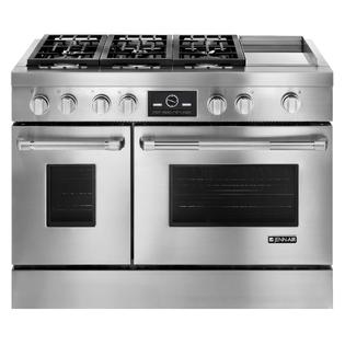 Jenn air 48 pro style double oven dual fuel range w griddle and
