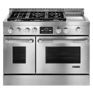 "Jenn-Air 6.3 cu. ft. 48"" Pro-Style™ Double-Oven Gas Range w/ Griddle and Convection at Sears.com"