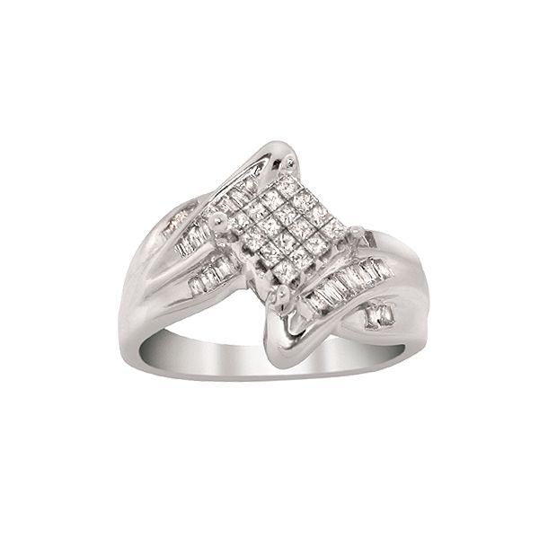 1/2 cttw Diamond Ring 10k White Gold