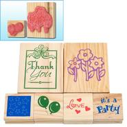 Trademark Games T Wood Mounted Rubber Stamp Set - 6 pc. at Sears.com