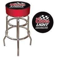 Trademark Coors Light Racing Logo Padded Bar Stool at Kmart.com