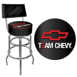 Trademark Team Chevy Racing Padded Bar Stool with Back
