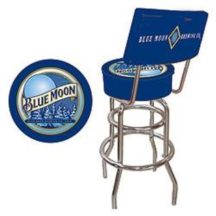 Trademark Blue Moon Padded Bar Stool with Back