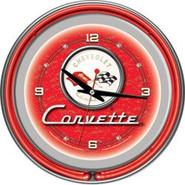 Trademark Corvette C1 Neon Clock - 14 inch Diameter - Red at Kmart.com