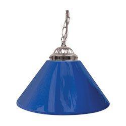 Trademark Plain Blue 14 Inch Single Shade Bar Lamp - Silver hardware