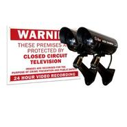 Q-See  QSSIGD2 2 Pack Decoy Surveillance Cameras with Warning Sign at Kmart.com