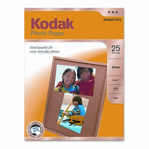 KODAK KOD1912369 Glossy Photo Paper, 8-1/2 X 11, 25 Sheets