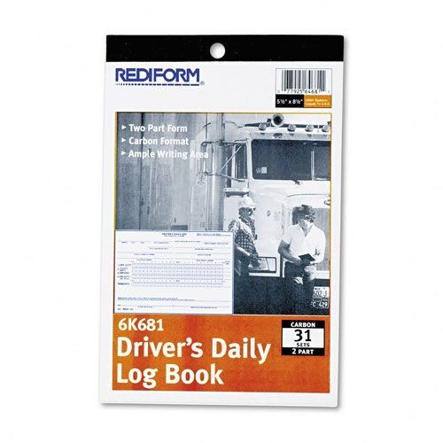 Rediform Driver's Daily Log, Duplicate Book with Carbon