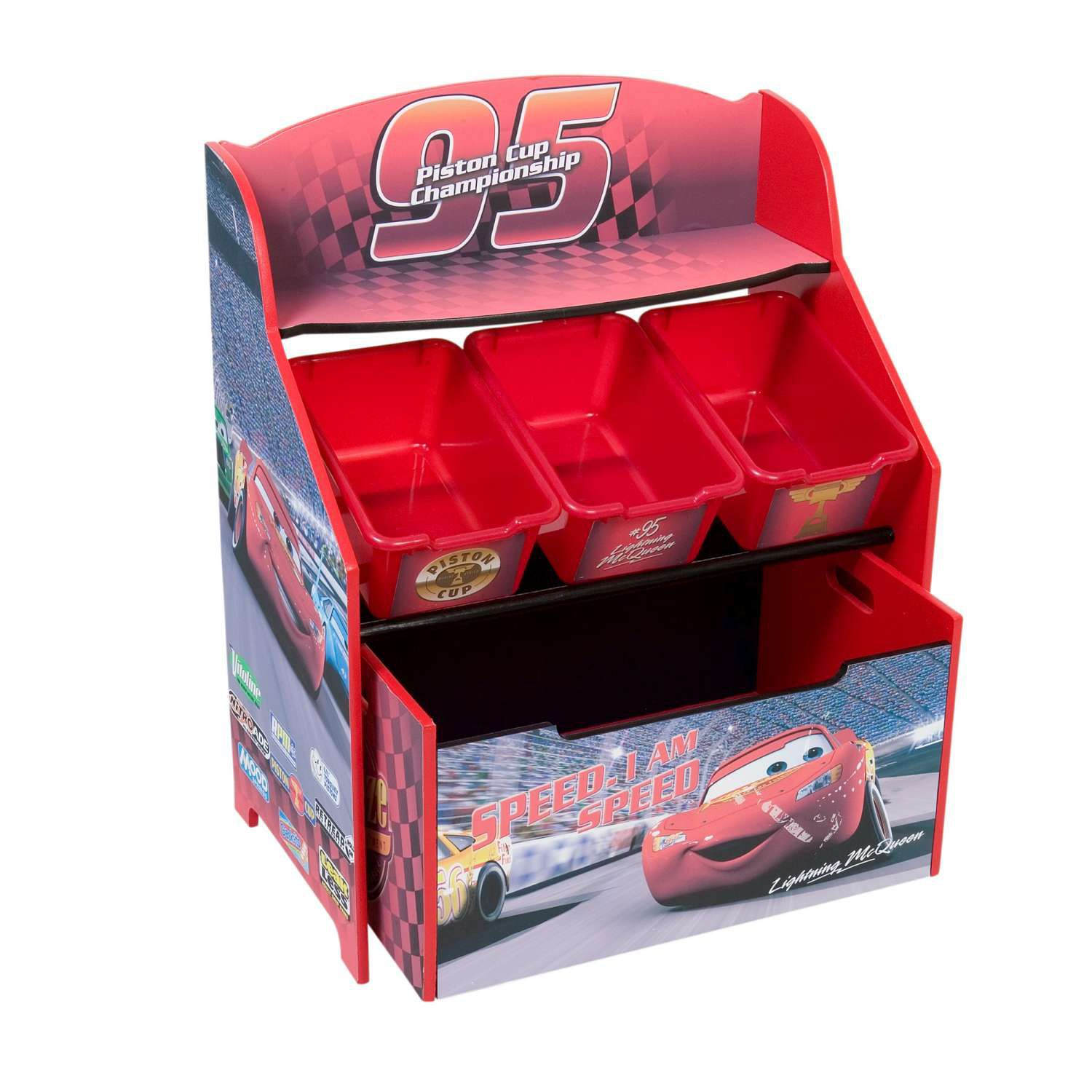 Delta Childrens Cars 3 Tier Storage