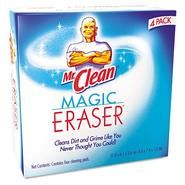 Procter & Gamble Mr. Clean Magic Eraser Foam Pad, 3x3, White, 4/box at Kmart.com