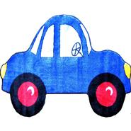 "Fun Time Shape Blue Car Size: 31"" x 47"" at Kmart.com"