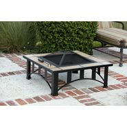 "Fire Sense 34"" Square Tuscan Tile Top Mission Style Fire Pit at Kmart.com"