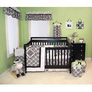 Versailles 4 Pc. Crib Bedding Set, B&W & Window Valance Bundle at Sears.com