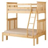 Canwood Base Camp Twin over Full Bunk Bed with Ladder/Guard Rail - Natural at Kmart.com