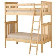 Canwood Base Camp Twin over Twin Bunk Bed with Angled Ladder/Guard Rail - Natural at Kmart.com