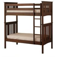 Canwood Base Camp Twin over Twin Bunk Bed with Vertical Ladder/Guard Rail - Espresso at Kmart.com