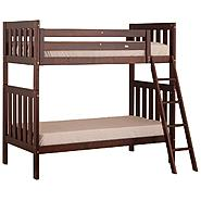 Canwood Alpine II Twin over Twin Bunk Bed with Angled Ladder/Guard Rail - Cherry at Kmart.com