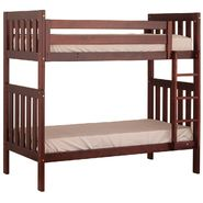Canwood Alpine II Twin over Twin Bunk Bed with Vertical Ladder/Guard Rail - Cherry at Kmart.com