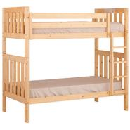 Canwood Alpine II Twin over Twin Bunk Bed with Vertical Ladder/Guard Rail - Natural at Kmart.com