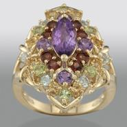 Multi Gemstone Cluster Ring at Sears.com