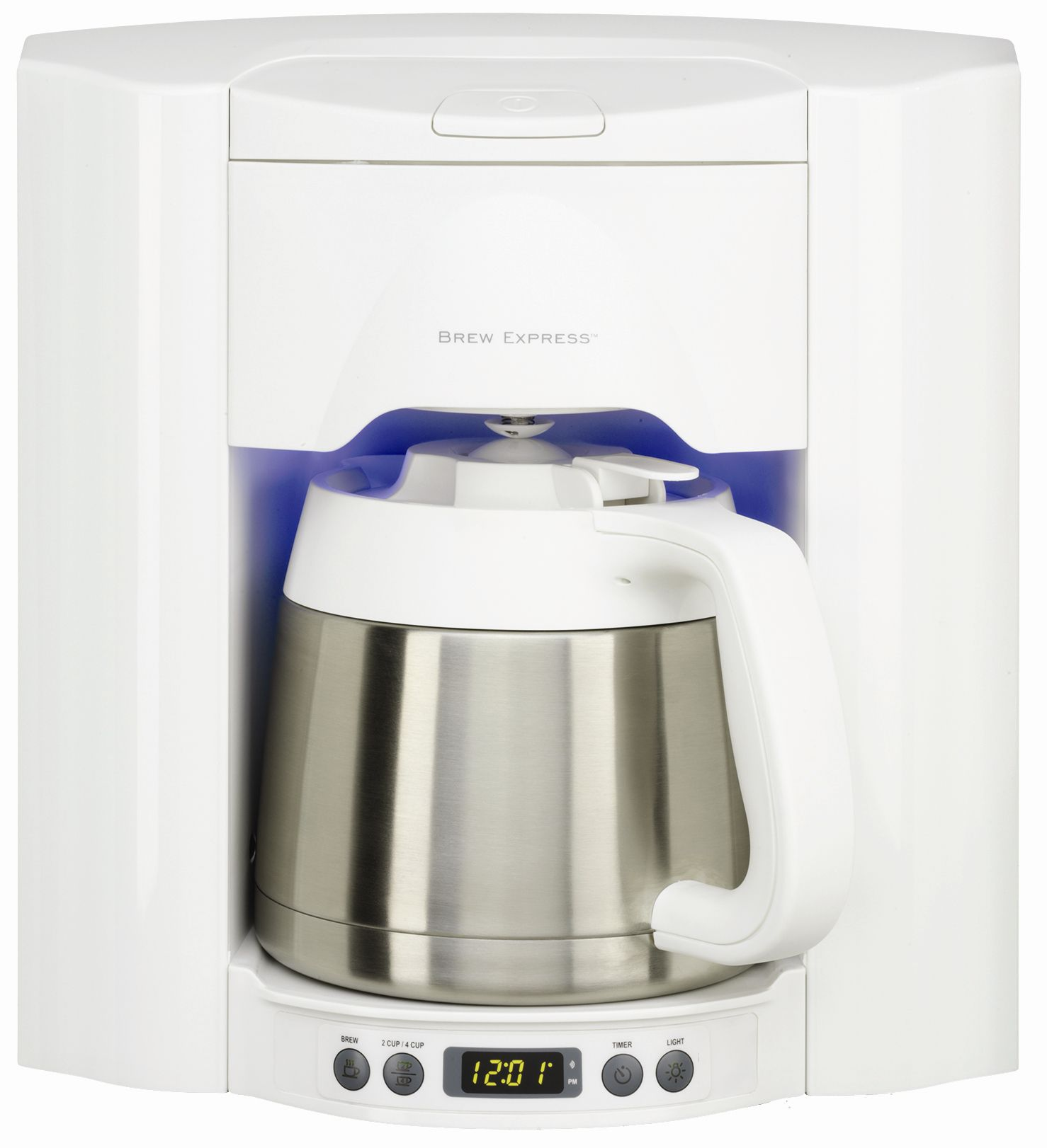 White 10 cup Built-In Coffee System