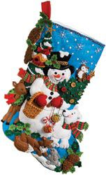 Bucilla BUCILLA-Woodland Snowman Stocking Felt Applique Kit-18