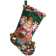 "Bucilla Cupcake Angel Stocking Felt Applique Kit-18"" Long at Kmart.com"