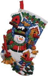 Bucilla BUCILLA-Snowman W/Birds Stocking Felt Applique Kit-18
