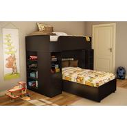 South Shore Logik Collection Twin 39-inch Loft Bed Kit Chocolate at Kmart.com