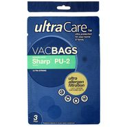 UltraCare Type PU-2 Allergen Filtration Vacuum Bags for Sharp® Upright Vacuums 8 pk at Kmart.com