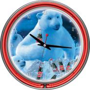 Trademark Coca-Cola Neon Clock - Polar Bears with Coke Bottle & Cubs at Kmart.com