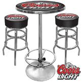 Trademark Ultimate Coors Light Gameroom Combo - 2 Bar Stools and Table at mygofer.com