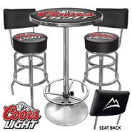 Trademark Ultimate Coors Light Gameroom Combo 2 Stools w/ Back & Table at Kmart.com