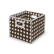 Badger Basket Brown Polka Dot Folding Storage Cube at Sears.com