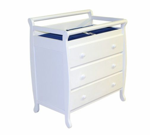 3 Drawer Changing Table in White                                                                                                 at mygofer.com