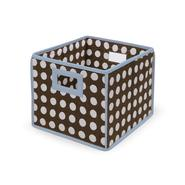 Badger Basket Brown Polka Dot with Blue Trim Folding Storage Cube at Sears.com