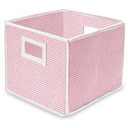 Badger Basket Pink Gingham Folding Storage Cube at Sears.com