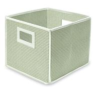 Badger Basket Sage Gingham Folding Storage Cube at Sears.com